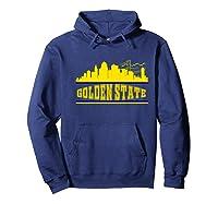 Golden State Distressed Basketball Team Fan Warrior Shirts Hoodie Navy
