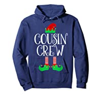 Cousin Crew Elf Gift Family Matching Christmas Ugly Shirts Hoodie Navy