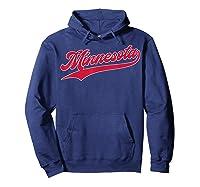 Minnesota Baseball Vintage Minneapolis Baseball Retro Gift Shirts Hoodie Navy