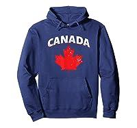 Toronto Vancouver Patriotic Canadian Canada Maple Leaf Shirts Hoodie Navy