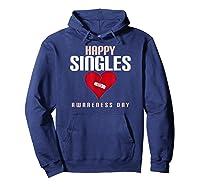 Broken Heart Band Aid Design Cute Printed Top Shirts Hoodie Navy