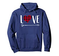 Love Heart Arrow T Shirt Best Gift For Valentines Day Hoodie Navy