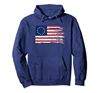 4th Of July Patriotic Betsy Ross Battle Flag 13 Colonies T Shirt Hoodie Navy