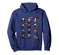 Friends Pixel Halloween Icons Scary Horror Movies Tank Top Shirts Hoodie Navy
