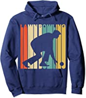 Vintage Style Lawn Bowling Silhouette T-shirt Hoodie Navy