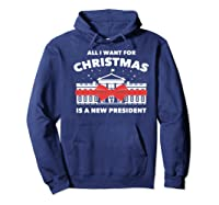 Resist And Impeach President For Christmas 2020 Anti Trump Premium T Shirt Hoodie Navy