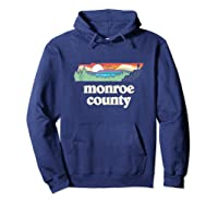 Monroe County Tennessee Outdoors Retro Nature Graphic Tank Top Shirts Hoodie Navy