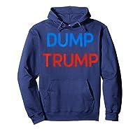 Funny Impeach Trump 45 Anti President Dump Trump Gift T Shirt Hoodie Navy