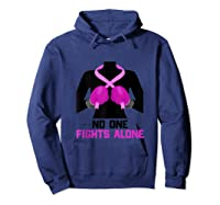 Husband Of A Warrior Breast Cancer Awareness Month Gift Tank Top Shirts Hoodie Navy