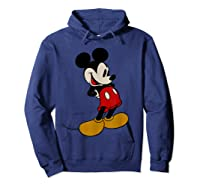 Disney Mickey Mouse Smile T Shirt Hoodie Navy