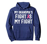 My Grandma S Fight Is My Fight Breast Cancer Awareness T Shirt Hoodie Navy