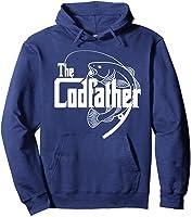 S Codfather Cod Fishing Fisherman Angler Novelty Humor Gifts T-shirt Hoodie Navy