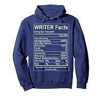 Writer Facts Storyteller Nutrition Information T Shirt Hoodie Navy