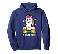 Unicorn First Day Of School Class Of 2032 Grow With Me Premium T-shirt Hoodie Navy