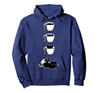 Cat In The Cup Funny Cat Lover Gifts Shirts Hoodie Navy