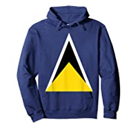 Saint Lucia Independence Day Flag Caribbean Carnival Tshirt Hoodie Navy