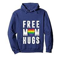 Lgbt X Pride - Cute Mother Distressed Lgbt Free Mom Hugs T-shirt Hoodie Navy