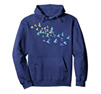 Origami Paper Cranes Japanese Culture Bird Lovers Gift T Shirt Hoodie Navy