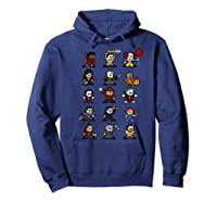 Friends Pixel Halloween Icons Scary Horror Movies Premium T Shirt Hoodie Navy