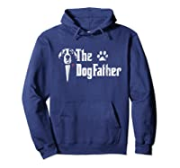 S The Dogfather Saint Bernard Dog Dad Tshirt Father S Day Gif Hoodie Navy