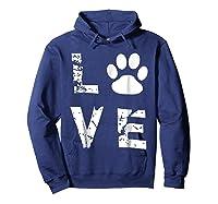 Love Animal Pet Dog Cat Paw Valentine S Day Funny T Shirt Hoodie Navy