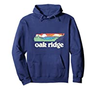 Oakland Tennessee Outdoors Retro Nature Graphic T-shirt Hoodie Navy