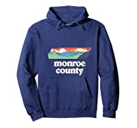 Monroe County Tennessee Outdoors Retro Nature Graphic T Shirt Hoodie Navy