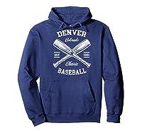 Denver Baseball, Classic Vintage Colorado Retro Fans Gift Baseball Shirts Hoodie Navy