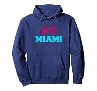 Bike Miami Florida Cyclist T Shirt Hoodie Navy