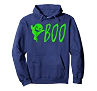 Funny Spooky Ghost Halloween Holiday Trick Or Treat Shirts Hoodie Navy