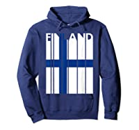 Finland Vintage Finland Flag Finnish Flag Shirts Hoodie Navy
