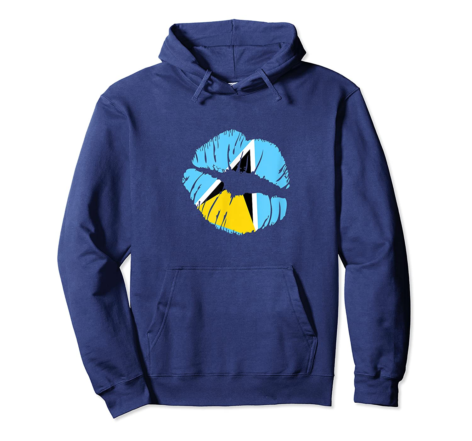 Saint Lucia Independence Day Flag Lips T Shirt Unisex Pullover Hoodie