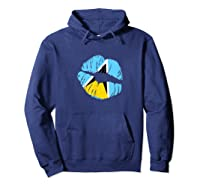 Saint Lucia Independence Day Flag Lips T Shirt Hoodie Navy
