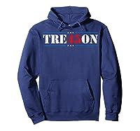 Tre45on Treason Anti Trump Impeach Trump F Trump 86 45 Gift T Shirt Hoodie Navy