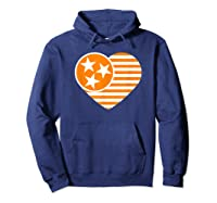 Tennessee Flag Shirt Vintage Distressed Usa Heart T Shirt Hoodie Navy