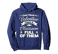 Tea Valentines Day Tshirt Funny Class School Gift Unisex Hoodie Navy