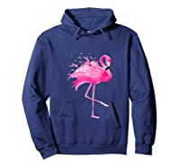 Funny Flamingo Breast Cancer Awareness October Ribbon Pink Tank Top Shirts Hoodie Navy