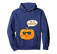 I'm A Pumpkin Costume Cosplay Fruit Halloween Shirts Hoodie Navy