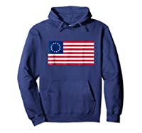 Betsy Ross Flag Usa T Shirt Hoodie Navy
