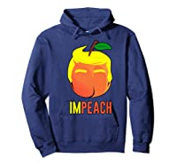 Anti Trump 2020 Vote Dems For Senate Impeach President Premium T Shirt Hoodie Navy