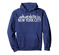 New York City Skyline Shirt For Girls  Hoodie Navy