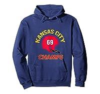 Retro Kansas City Football Helmet Vintage Kc 69 Champs Shirts Hoodie Navy