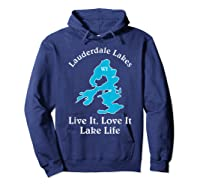 Lauderdale Lakes Wi Lake Life T-shirt Wisconsin Fans Tee Hoodie Navy