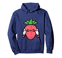 Strawberry Rock Roll Rocker Gift Sign Of Horns Shirts Hoodie Navy