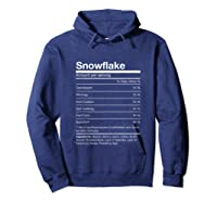 Funny Snowflake Nutrition Facts Family Christmas Parody Tank Top Shirts Hoodie Navy