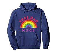 Free Dad Hugs, Free Dad Hugs Rainbow Gay Pride Shirts Hoodie Navy