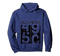 Oldometer 50 Shirt Great 50th Anniversary Birthday Gift Tee T-shirt Hoodie Navy