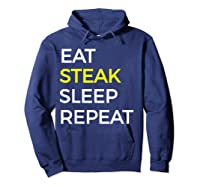 Beef Steak, Meat Bbq Gift Shirts Hoodie Navy