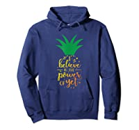I Believe In The Power Of Yet Growth Mindset Tea T-shirt Hoodie Navy