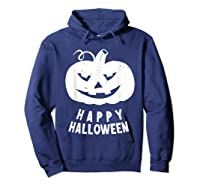Funny Happy Halloween Costumes Scary Spooky Pumpkin Costume Shirts Hoodie Navy
